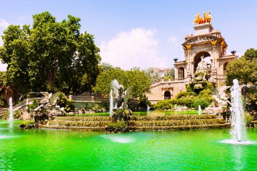 Fountain Cascada a in Barcelona. Catalonia, Spain