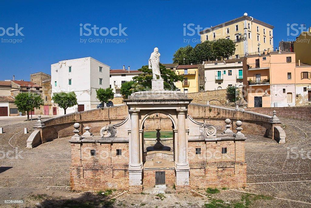 Fountain Cavallina. Genzano di Lucania.Italy. stock photo
