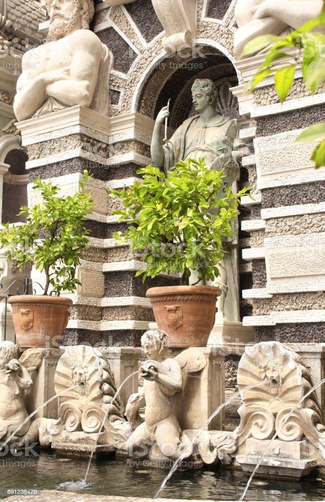 Fountain dell'organo in Gardens of Villa d'Este, Tivoli, Italy stock photo
