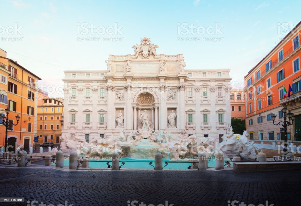 Fountain di Trevi in Rome, Italy stock photo