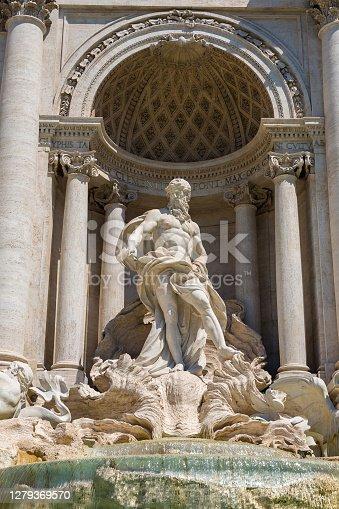 Fountain di Trevi in Rome, Italy in a summer day