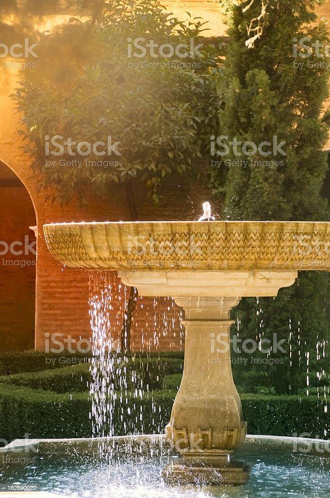 Fountain in Alhambra stock photo
