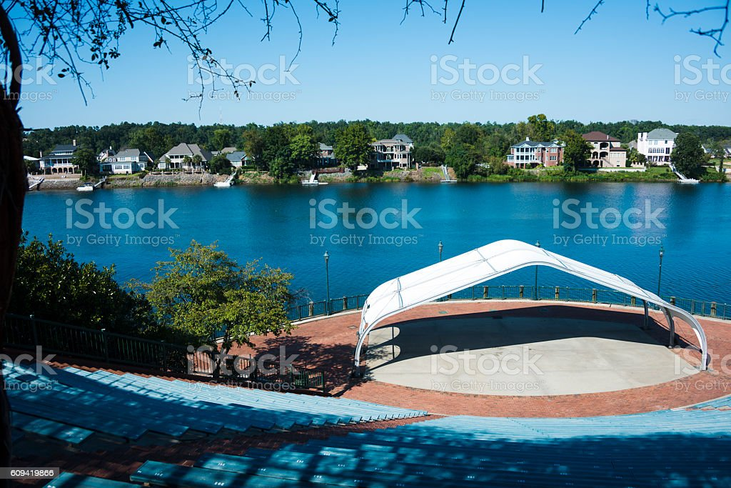 Fountain in Augusta, Georgia stock photo