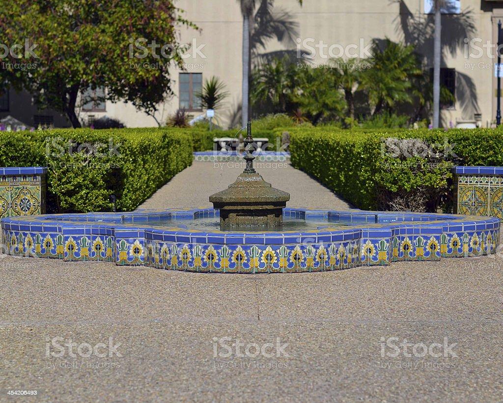 Fountain in Balboa Park royalty-free stock photo