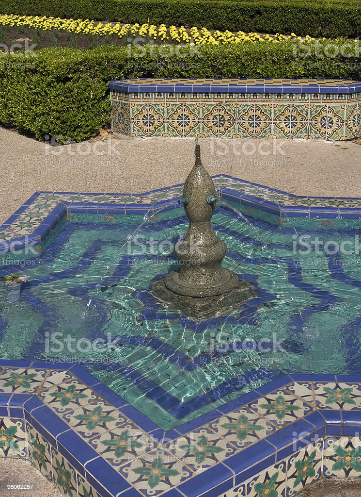 Fountain in Balboa Park San Diego royalty-free stock photo