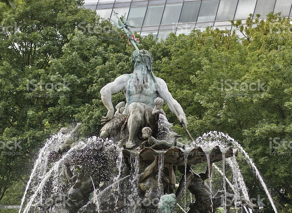 fountain in Berlin stock photo