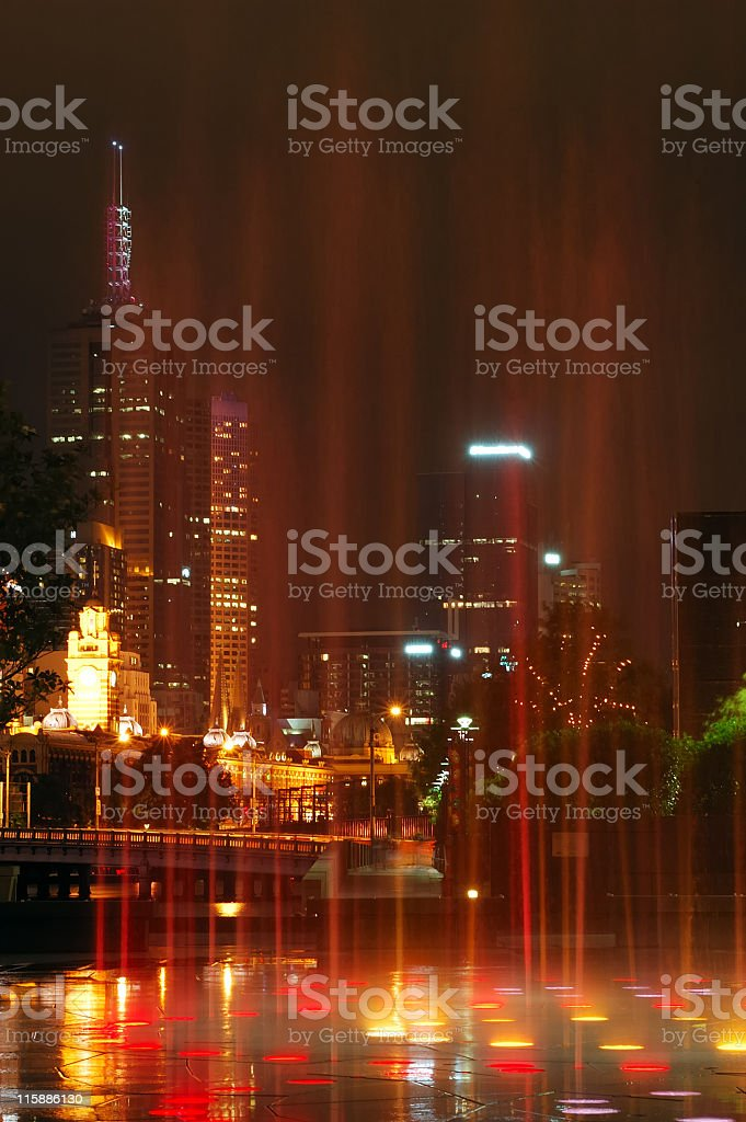 Fountain in Melbourne royalty-free stock photo