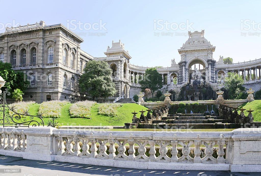 fountain in Palais de Longchamp, Marseille stock photo