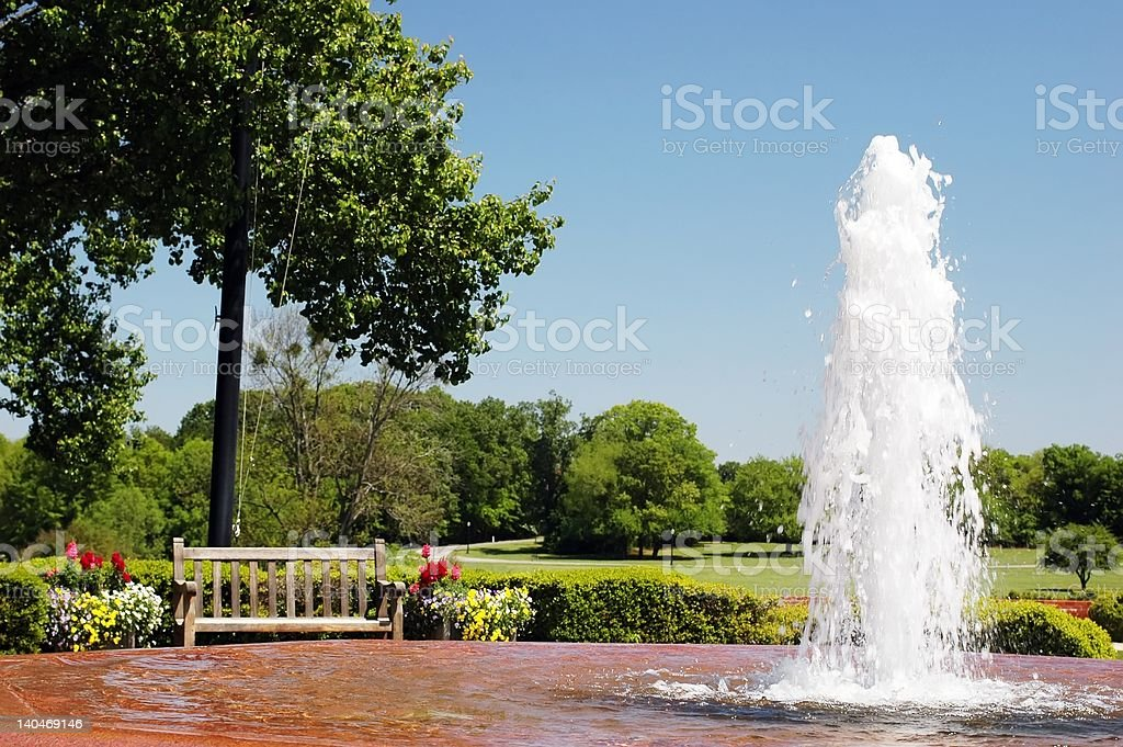 Fountain in Park royalty-free stock photo