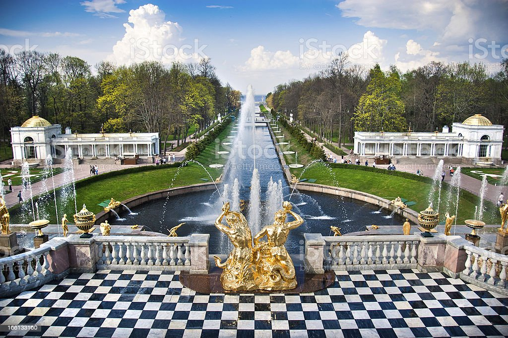 Fountain in Peterhof royalty-free stock photo