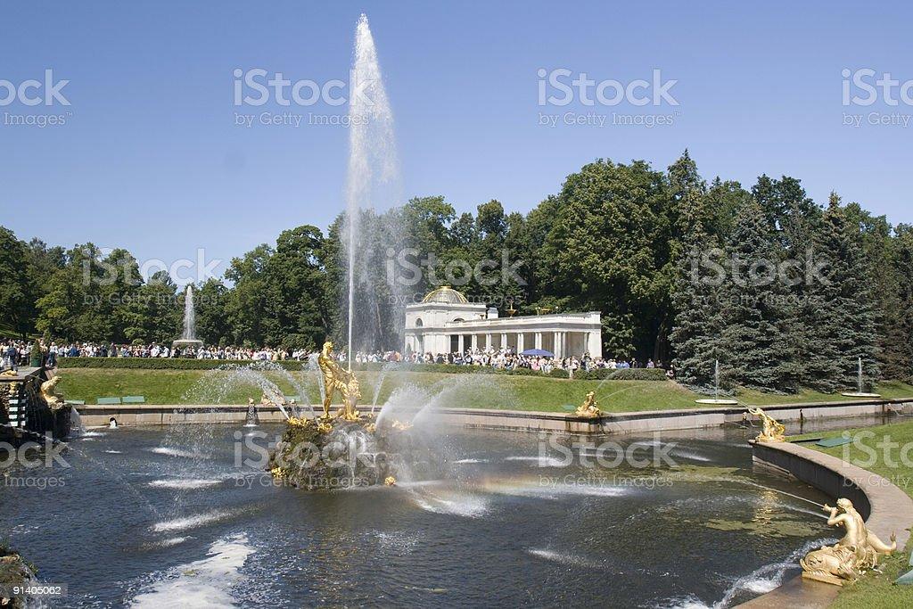 Fountain in Petrodvorets (Peterhof), St Petersburg, Russia. royalty-free stock photo