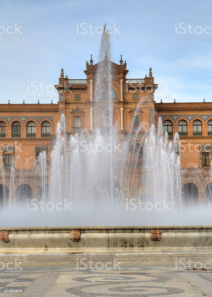 Fountain in Plaza de Espana royalty-free stock photo
