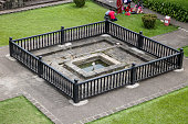 Shaniwar Wada palace fountain. Shaniwarwada is a historical fortification in the city of Pune in Maharashtra, India, built in 1732.