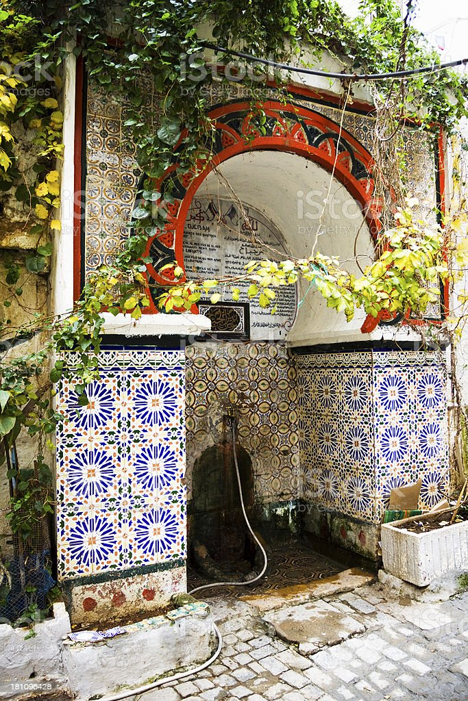 Fountain in the Casbah of Algiers stock photo