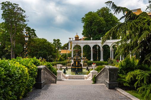 Fountain in the Governors garden, Baku City