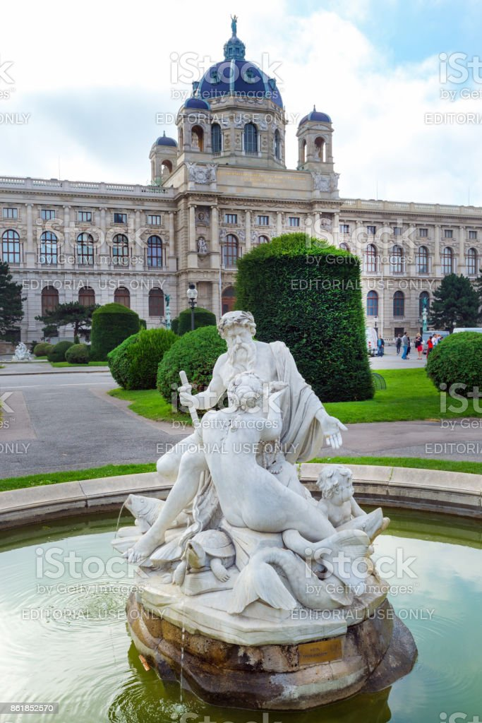 fountain in the old town in Vienna stock photo