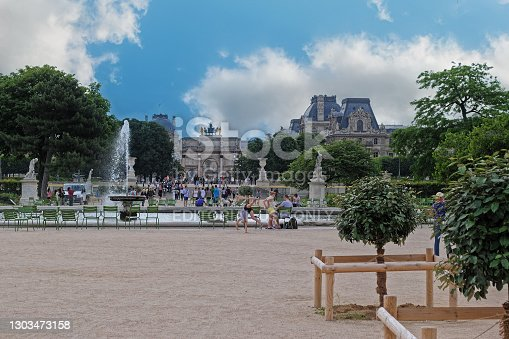 istock Fountain in the Tuileries Garden. 1303473158