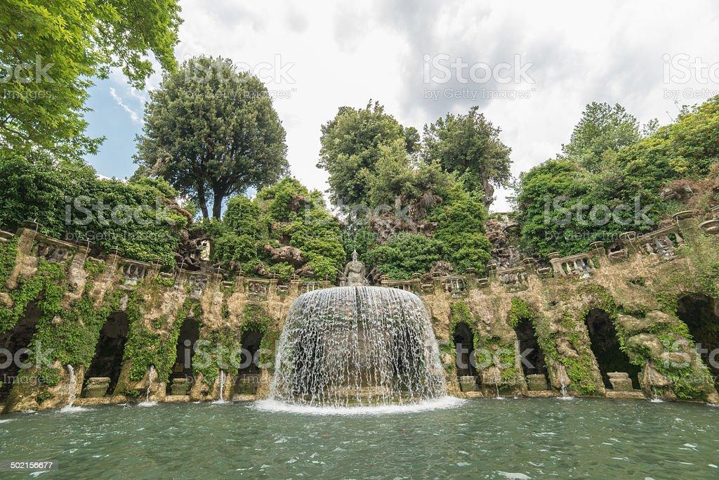 Brunnen in der Villa d'Este stock photo