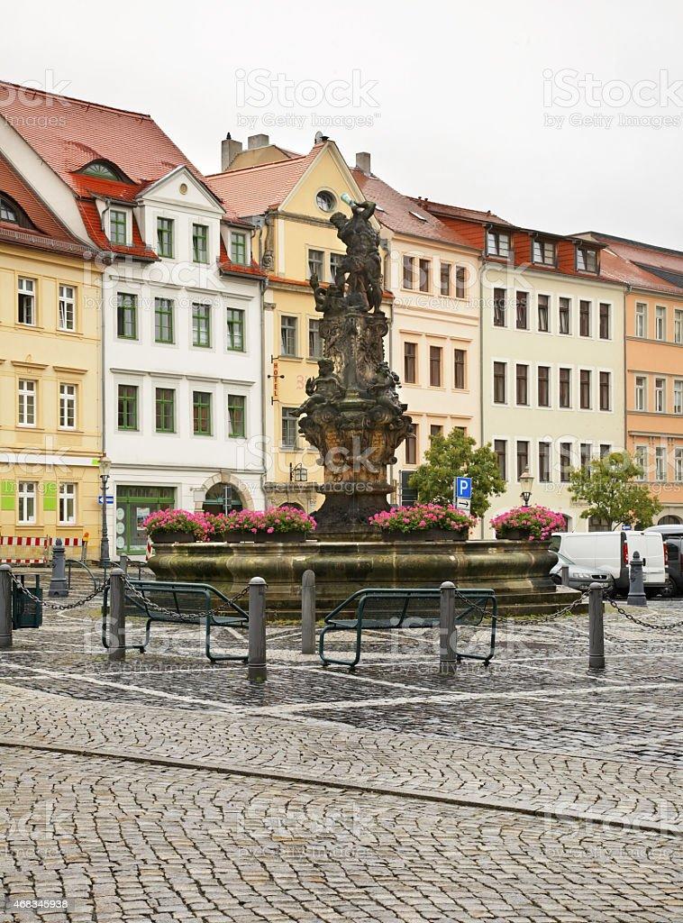 Fountain in Zittau. Germany royalty-free stock photo