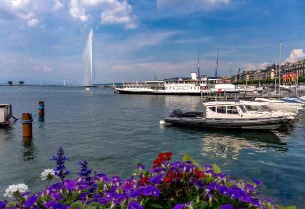 Fountain Jet d'Eau - Genève - Suisse - Photo