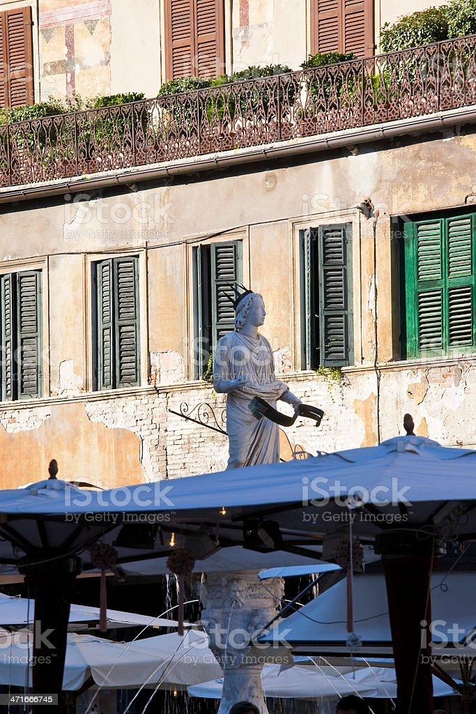 Fountain Madonna of Verona royalty-free stock photo