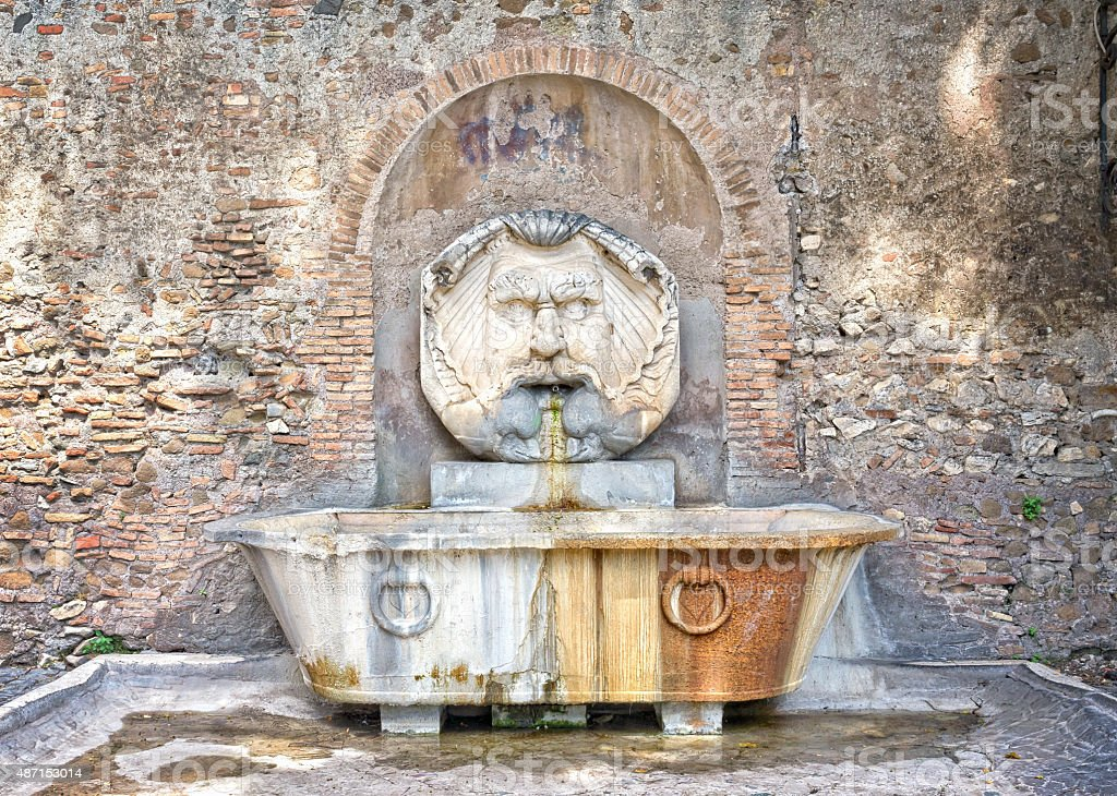 Fountain mask, Aventino - Rome  Italy stock photo