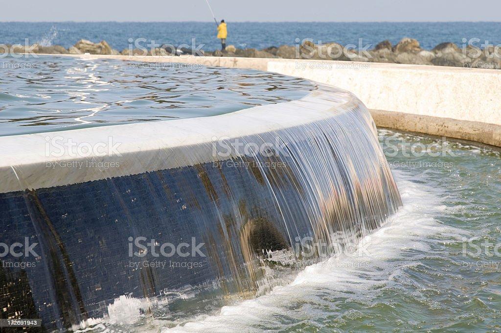 Fountain near the sea royalty-free stock photo