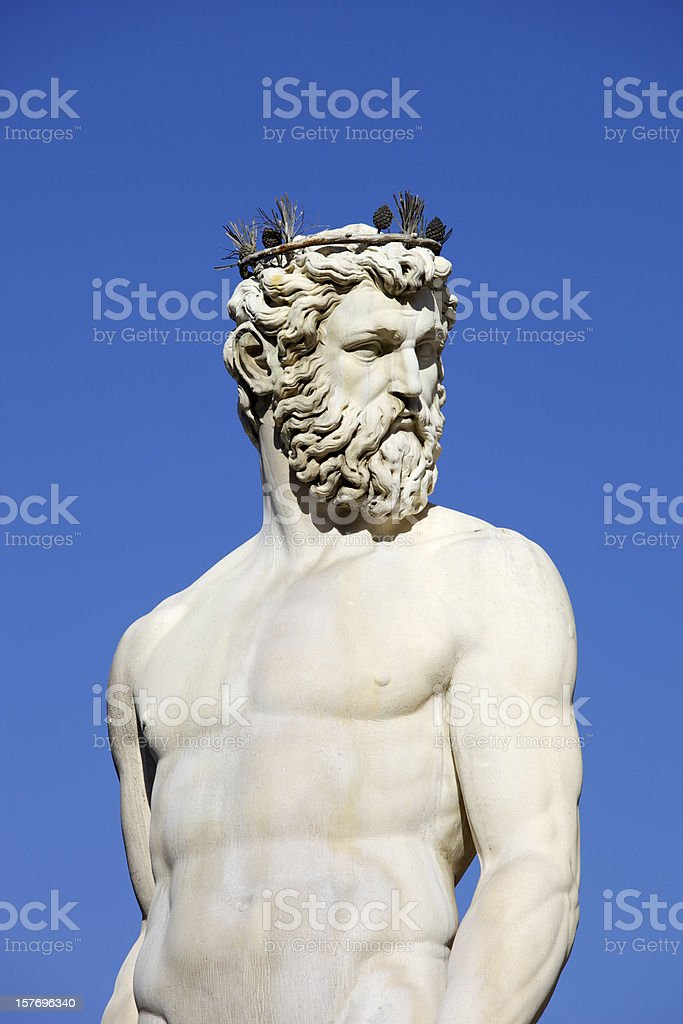 Fountain Of Neptune In Florence royalty-free stock photo