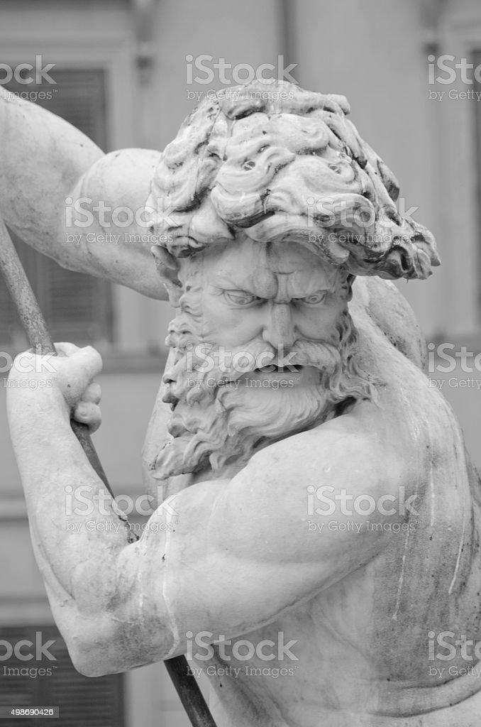 Fonte de Netuno, na Piazza Navona, Roma, Itália - foto de acervo