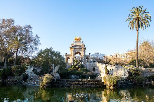 Fountain of Parc de la Ciutadella in Barcelona, Spain