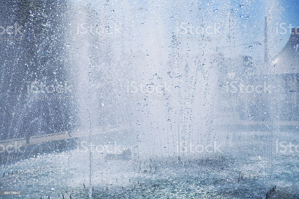Fountain of pure brilliant water royalty-free stock photo