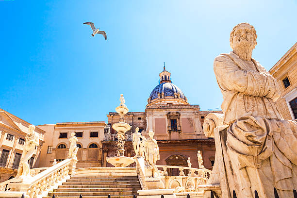 Fountain of Shame in Palermo stock photo