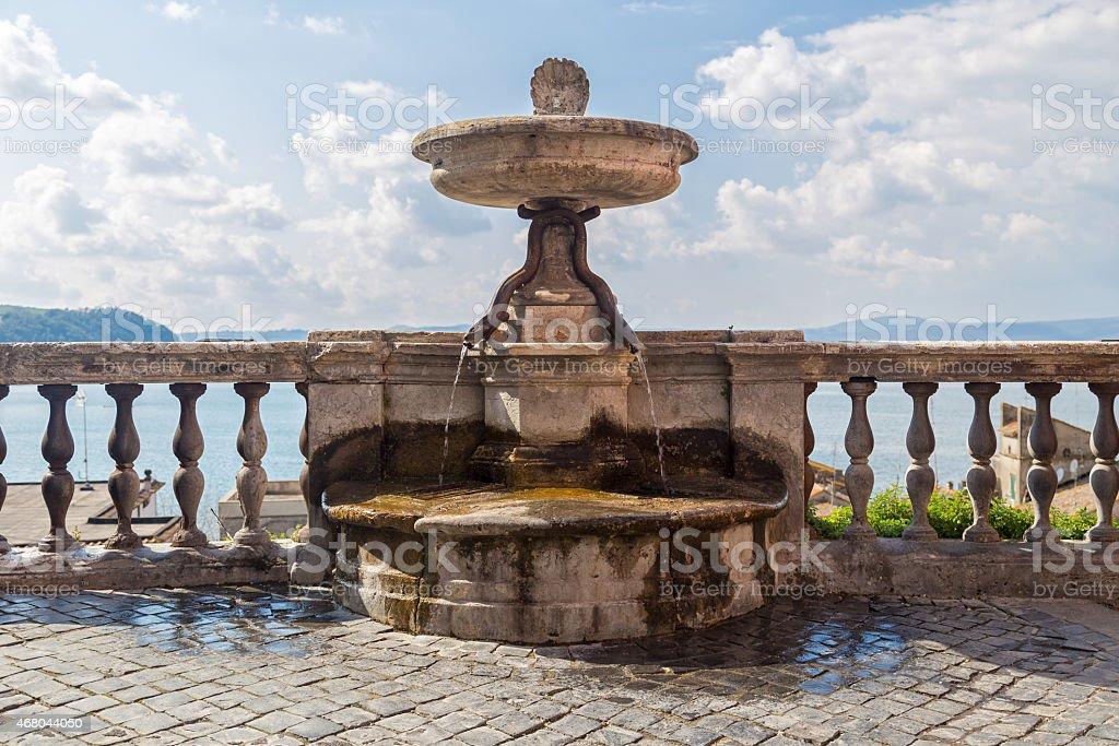Fontana della Terra - Anguillara Sabazia (Italy) stock photo