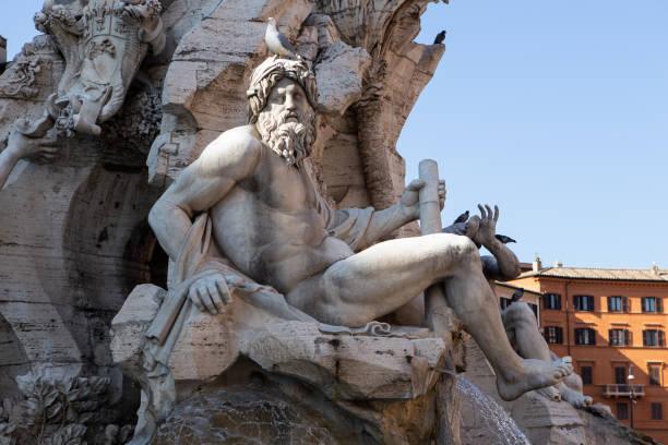 Brunnen der vier Flüsse auf dem Navona-Platz in Rom – Foto