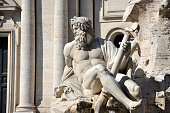 istock Fountain of the Four rivers statue, Rome 936012566