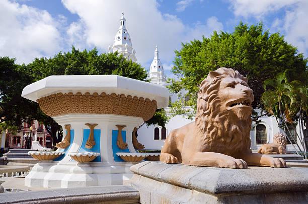 Fuente de los Leones in Ponce, Puerto Rico stock photo