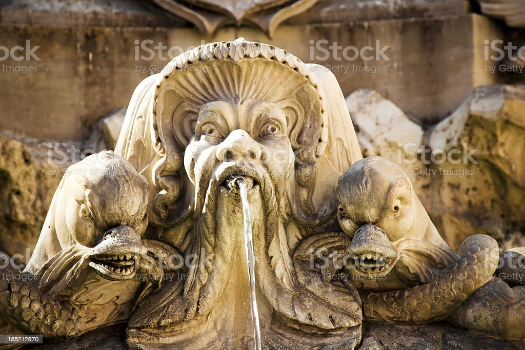 Fountain of the Pantheon in Rome royalty-free stock photo