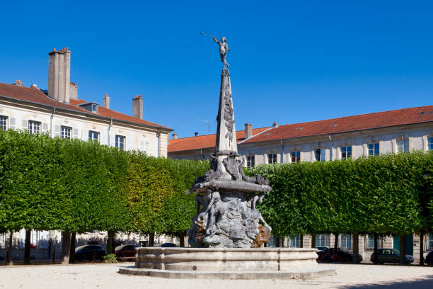 Fountain of the Place d'Alliance in Nancy stock photo