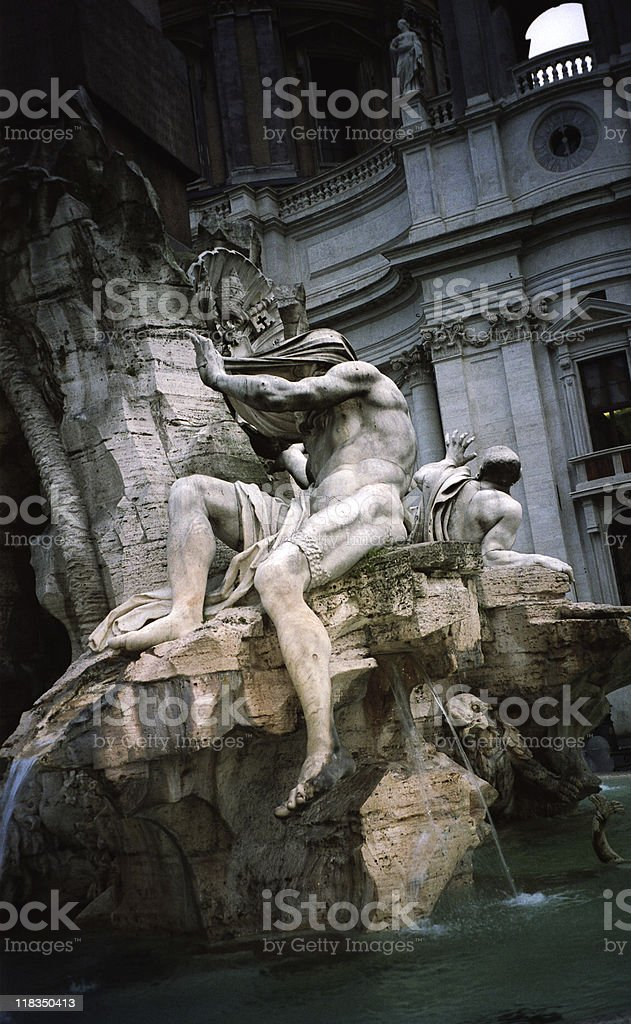 Fountain of the Rivers, Rome, Italy royalty-free stock photo