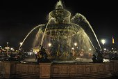 Fountain of the Seas, in Place de la Concorde. Paris, France