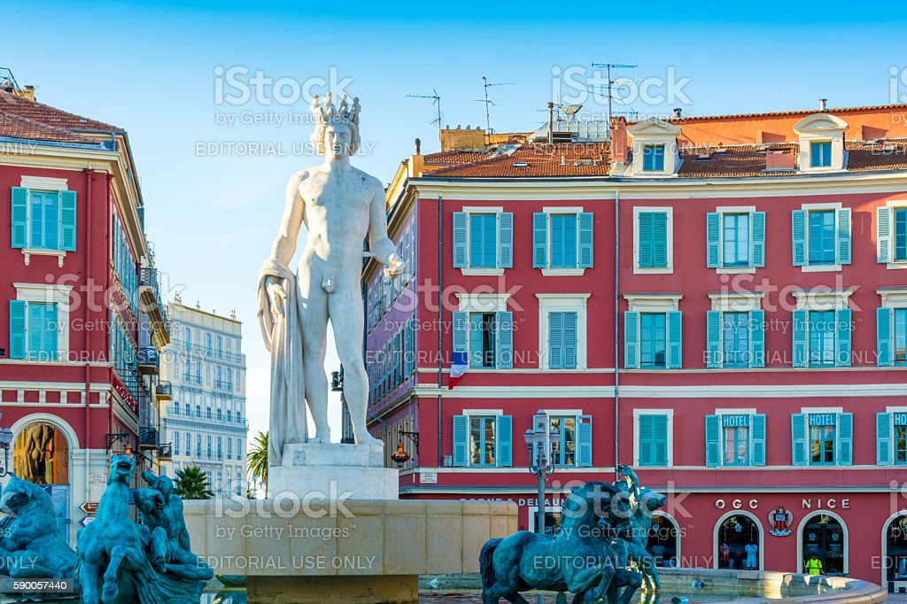 Fontaine du Soleil, Nice, France stock photo
