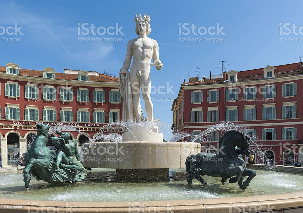 Fontaine du soleil, Nice stock photo