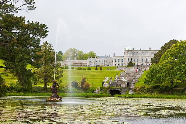Fountain of the Triton Lake at Powerscourt State stock photo
