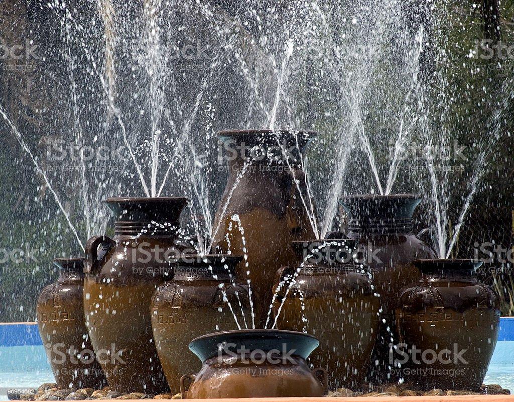 fountain of vases royalty-free stock photo