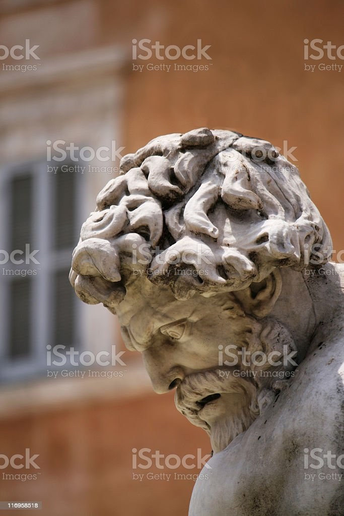 Fountain on Piazza Navona, Rome royalty-free stock photo