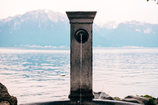 Fountain on the Montreux quay