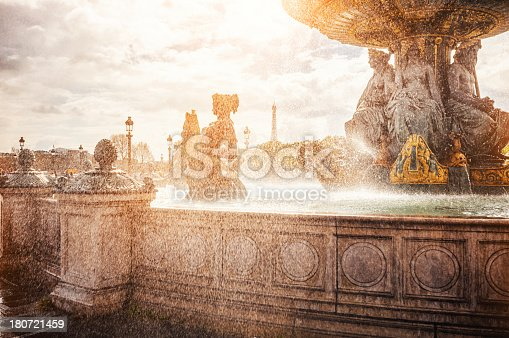 istock Fountain on the Place de la Concorde in Paris 180721459