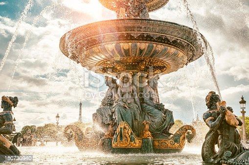 istock Fountain on the Place de la Concorde in Paris 180730940