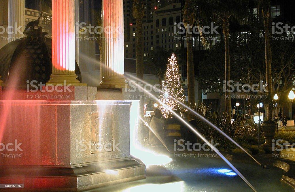 Fountain on the Plaza royalty-free stock photo