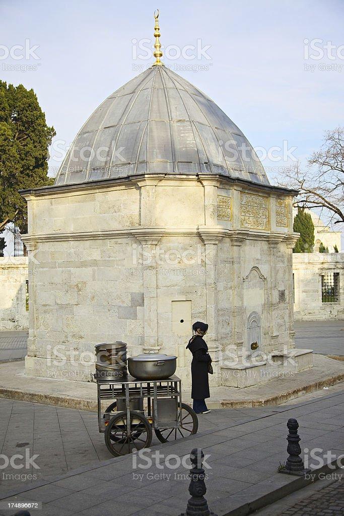 Fountain outside Suleiman's Mosque complex, Istanbul, Turkey stock photo